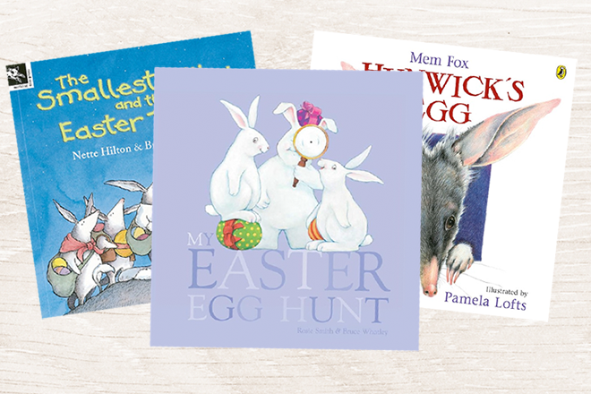 Lots of books about easter