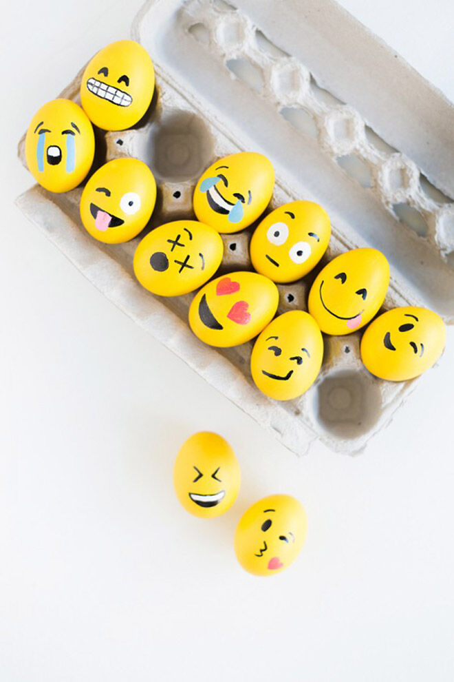 Emoji Easter eggs. Fun, fun fun!