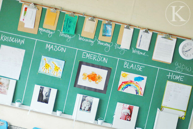 Family organisation station by Katherine Marie