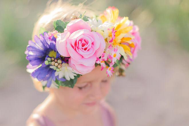Girls flower crown