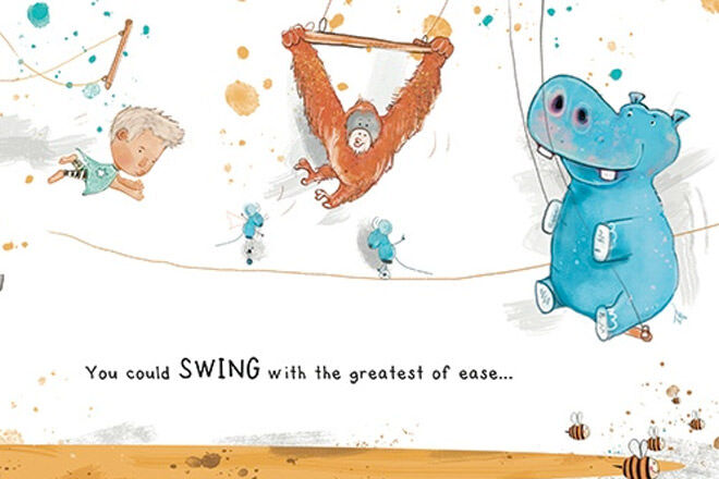 Hippo Blue Personalised Book