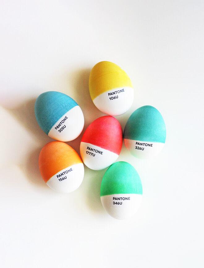 Pantone Easter egg decorating