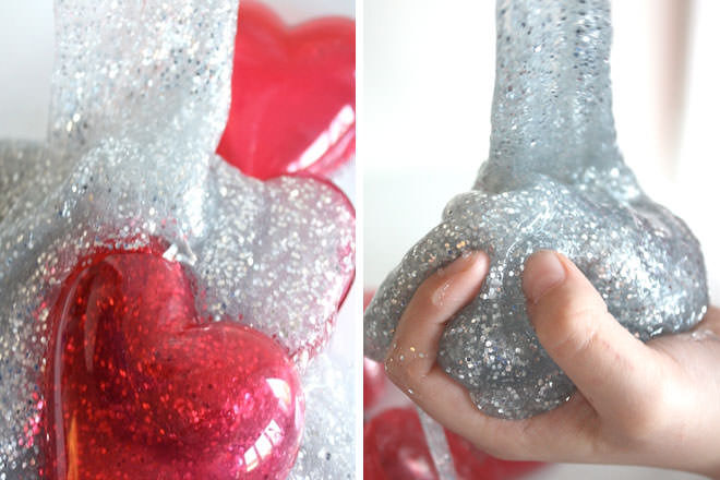 Kids valentine activity slime