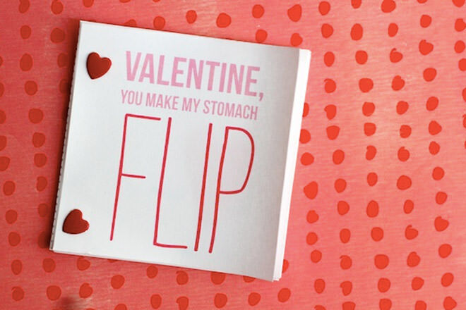 Kids valentine activity flip book printable