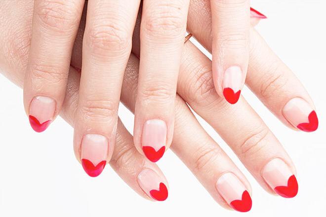 Valentine's inspired manicure