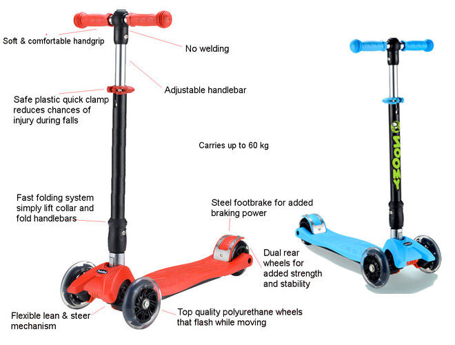 Zoomy Leisure scooter with flashing wheels