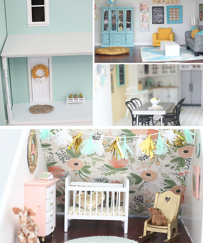 Craftiness is not Optional - How to do a DIY Dolls House Reno.