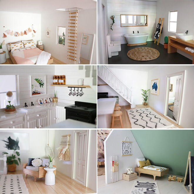 garage ideas ikea - 14 modern day DIY dolls house renovations