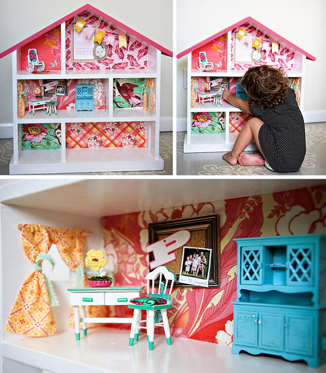 Sweet Pink Dolls House - how to do a DIY Dolls House Reno.