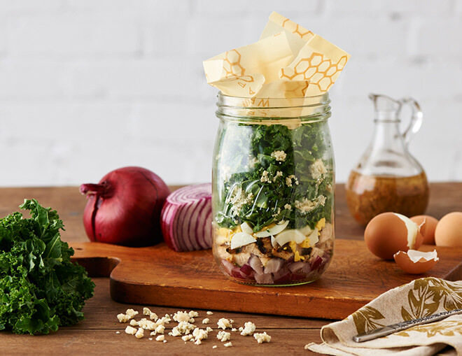 Lunch in a Jar. This healthy Blue Winter salad has heaps of the healthy stuff as well as some tasty blue cheese. Perfect for working Mums.