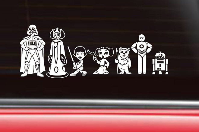 Star Wars Gift Guide family car stickers