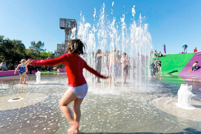 Blaxland-Riverside-Park water play