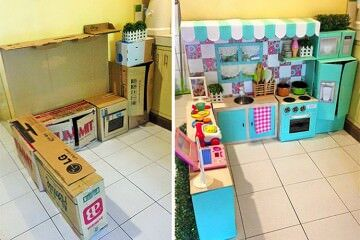 toddler play kitchen DIY