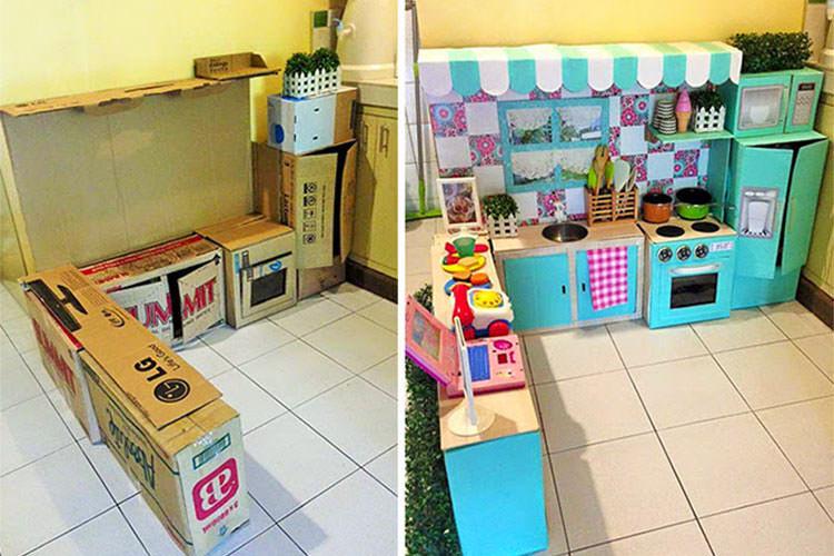 toddler play kitchen DIY