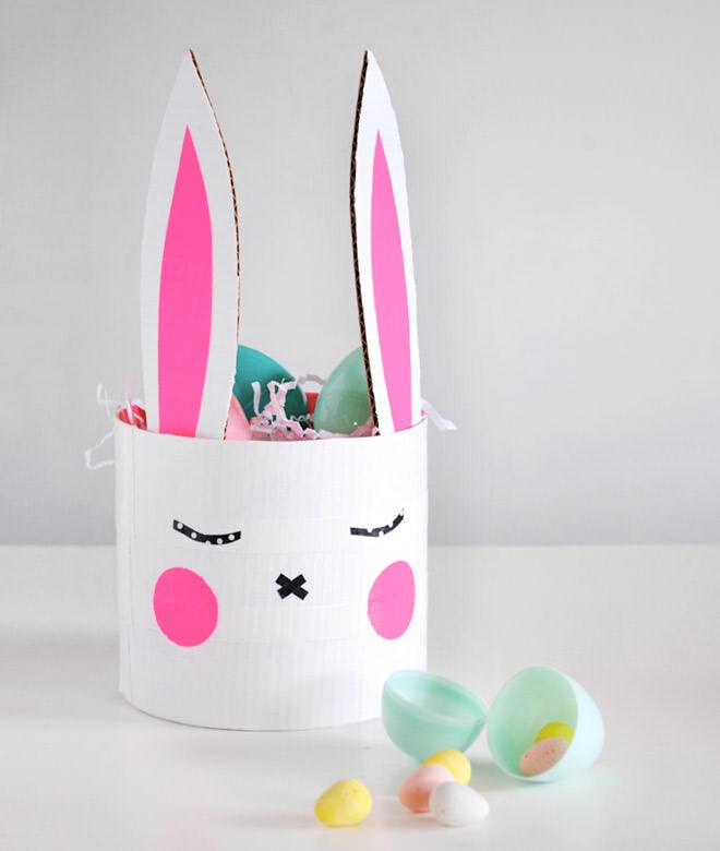 Easter bunny basket DIY