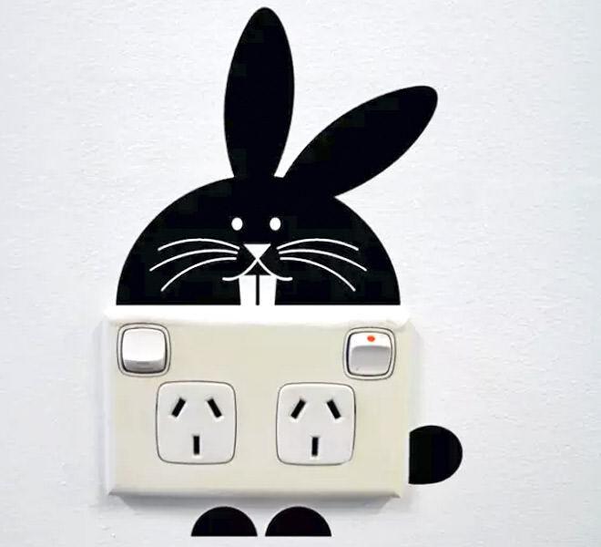 Bunny power point wall sticker