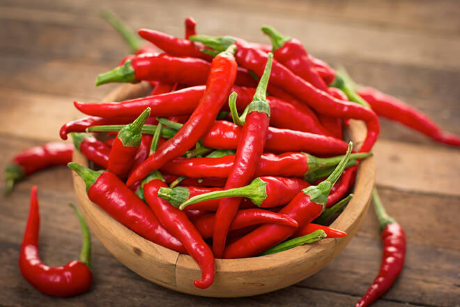 Spicy food such as chilli peppers can trigger labour