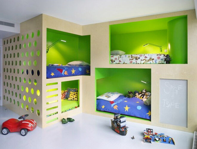 Cubby bunk bed