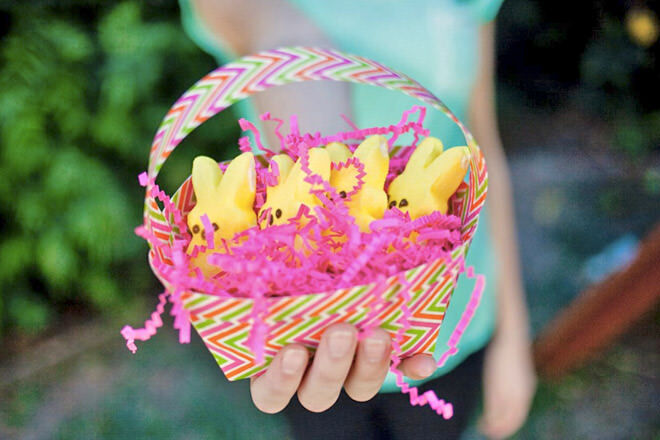 Duct tape Easter basket