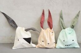 gorgeous Fabelab bunny bags for collecting easter eggs