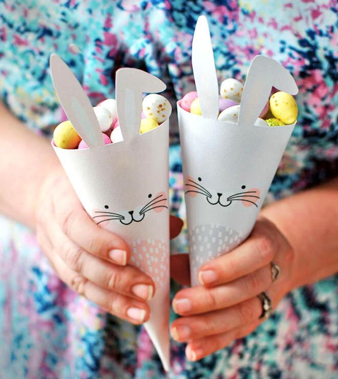 Easter Bunny printable cones