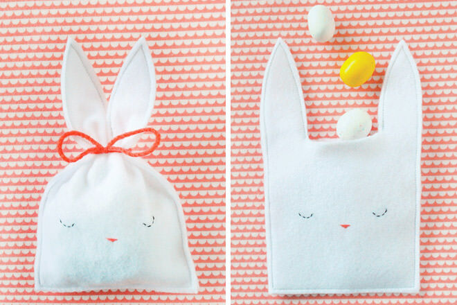 Easy Easter bunny candy pouch
