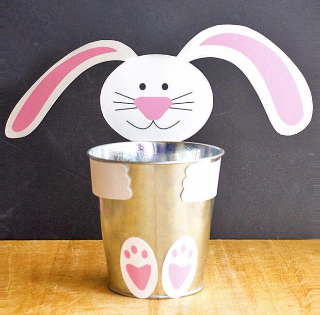 Easter bunny tin printable