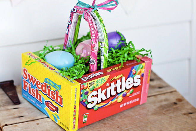 31 diy easter baskets for your little bunnies mums grapevine diy edible easter basket negle Choice Image