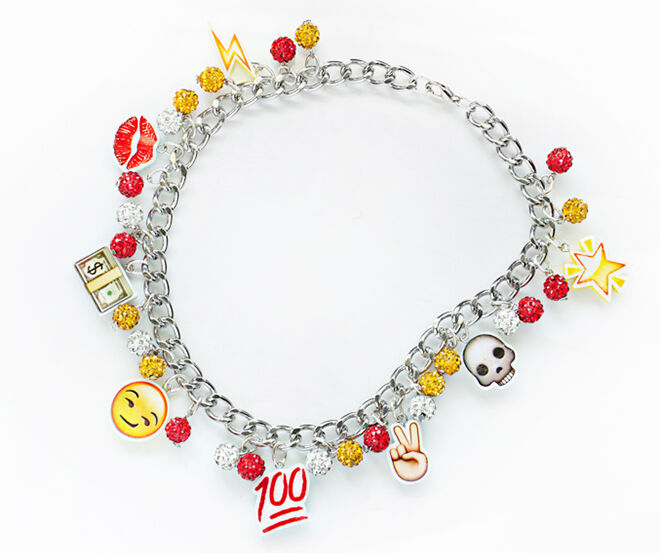 Quiet Lion Creations - DIY Emoji Charm Bracelet