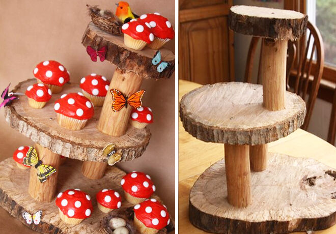Fairy-Birthday-Cupcakes-on-Wooden-Stand