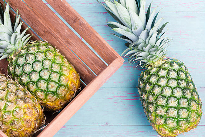 Eating fresh pineapple can help start natural labour
