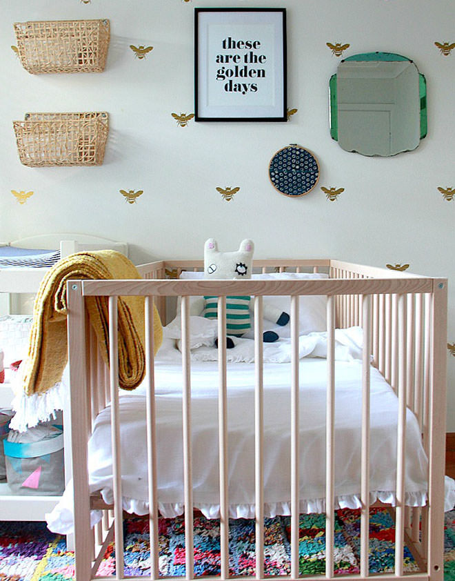 Beetle Shack nursery. How to style the $99 IKEA cot.