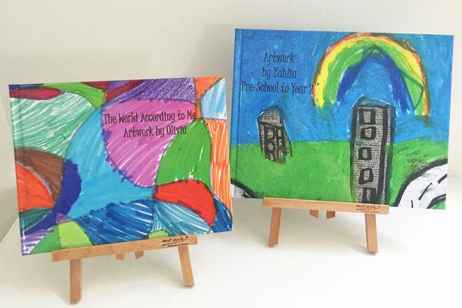 Jimmy Halfpenny customised kids art book