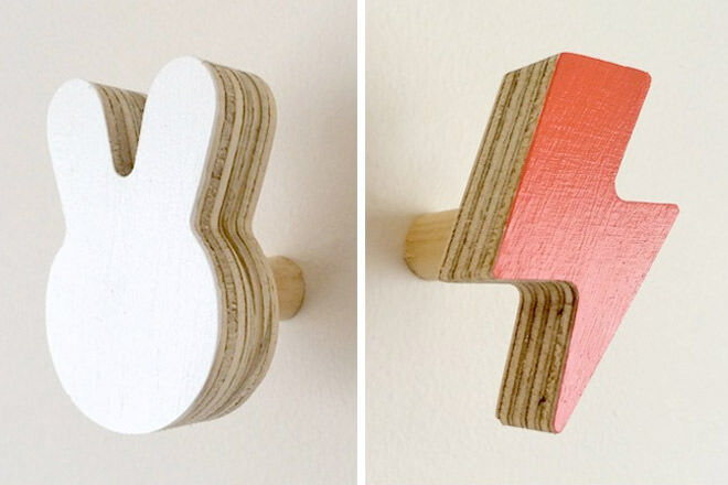 Kids Bedroom Hooks 20 cool wall hooks too cute to cover up | mum's grapevine