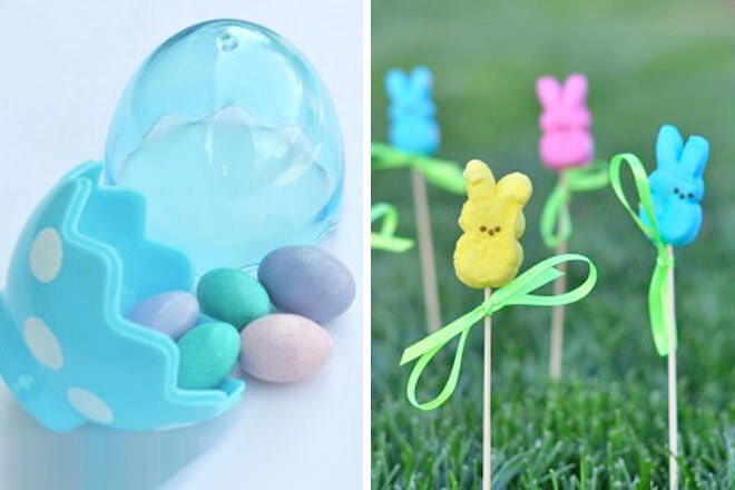 Easter magic jelly beans lollypop garden