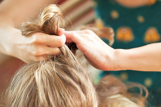 Keep longer hair securely tied back can prevent the spreading of nits