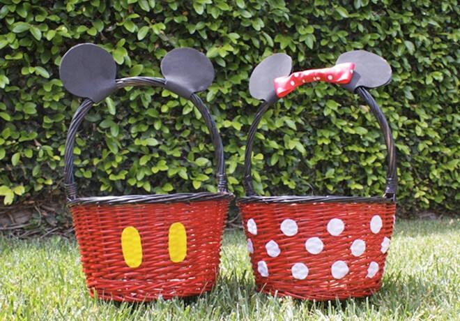 Mickey Minnie Disney Easter baskets