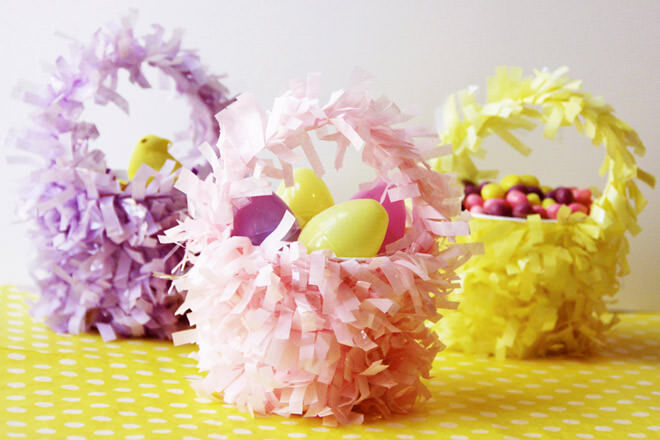 Mini Easter basket craft project