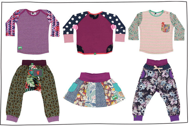Oishi M AW 16 girls' harem pants t-shirts