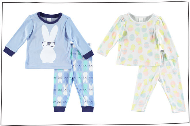 Mix Apparel Kids Easter pajamas