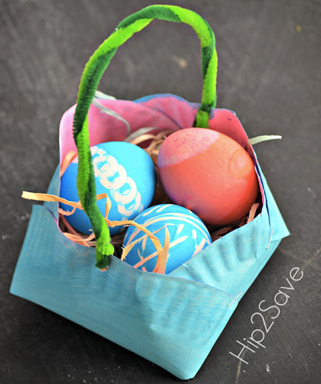 Paper plate Easter basket