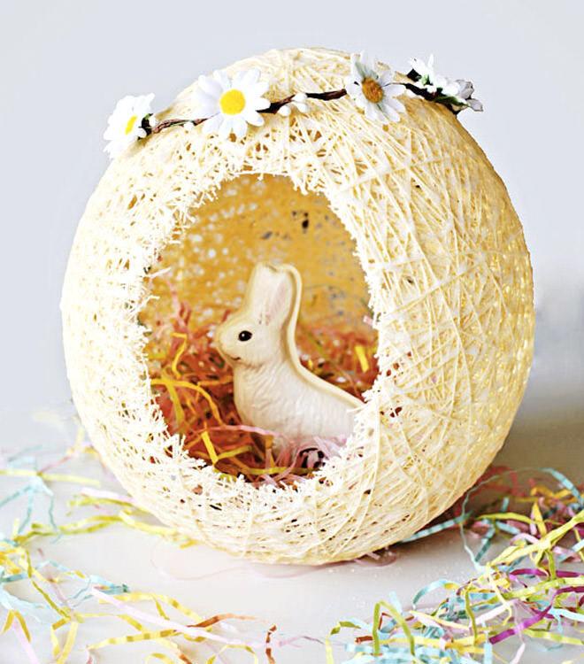 Sugar string Easter egg basket