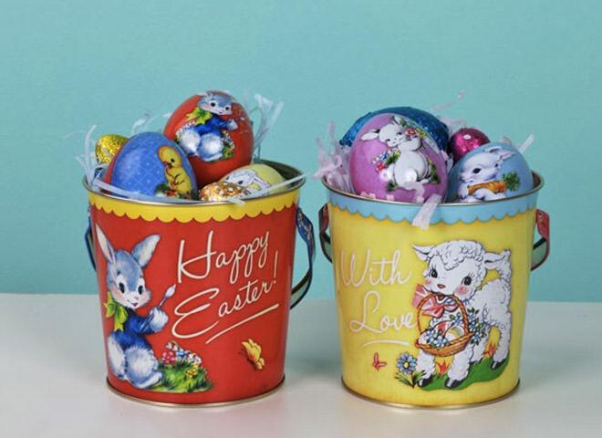 Vintage Easter buckets