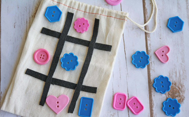 Tic Tac Toe. Busy bags for busy toddlers.