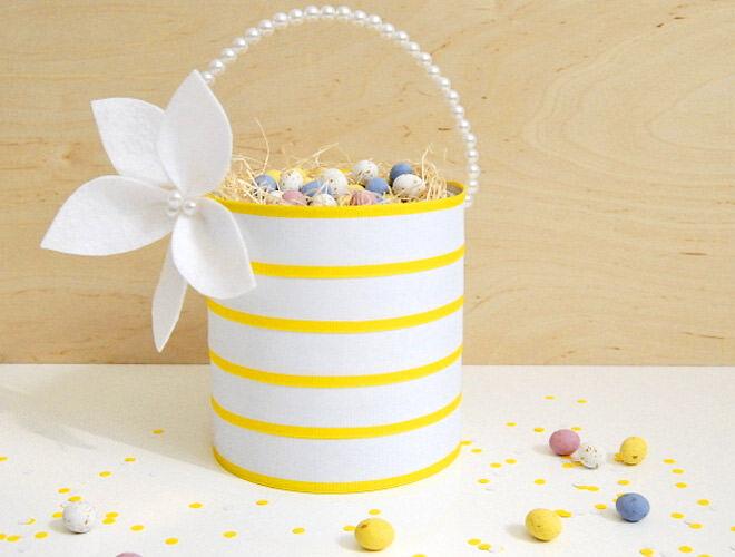 Upcycled coffee tin Easter basket