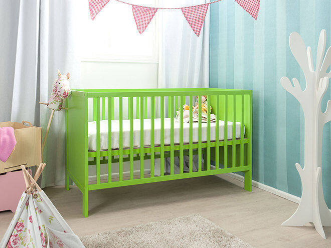 Mocka Aspiring Cot in Green -choosing the right cot for baby