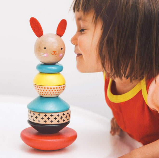 Bunny Stacking Toy. Easter gifts with no added sugar.