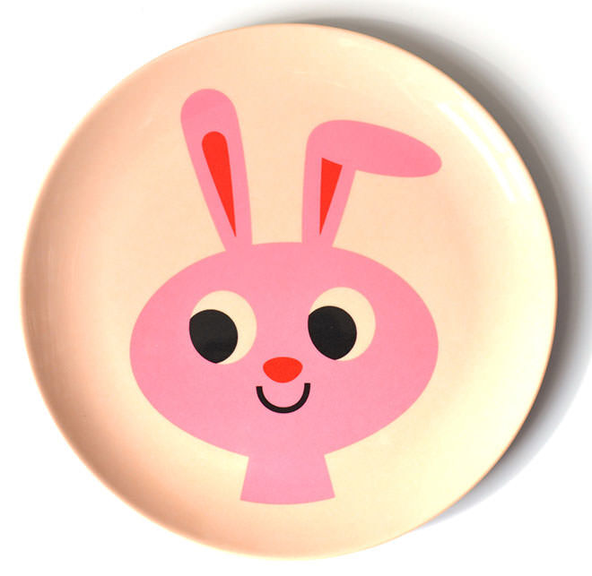 Omm Design Plate Bunny. Easter treats with no added sugar.
