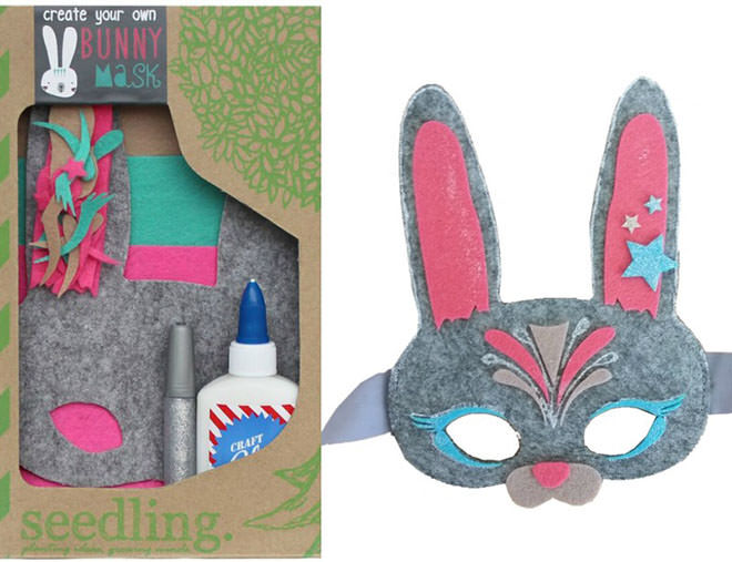 Seedling Bunny Mask. Easter gifts with no added sugar.
