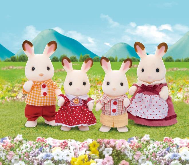 Sylvanian Families Rabbit Family.